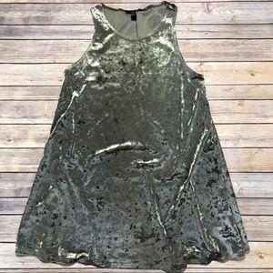 Crushed Velvet Swing Dress Medium